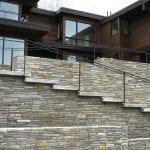 Smokey Gold Real Stone Veneer Residential Exterior