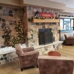 Split Fieldstone Thin Stone Veneer Fireplace