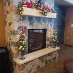 Split Granite Fieldstone Natural Thin Stone Veneer Interior Fireplace