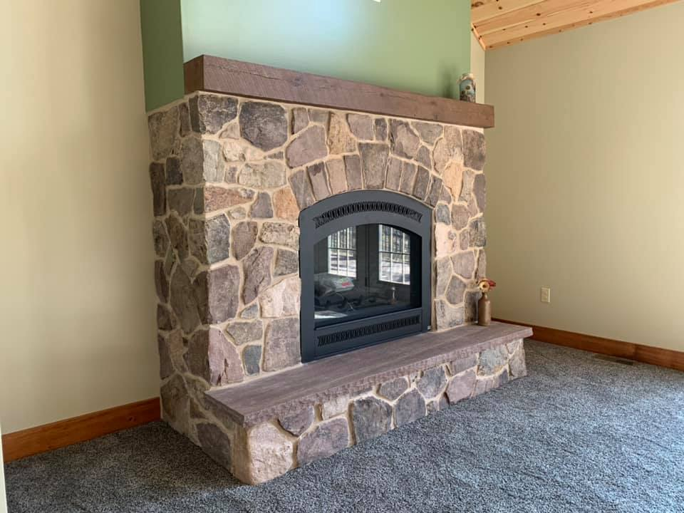 Langston Natural Stone Veneer Fireplace