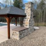 London Castle Rock Real Thin Stone Veneer Fireplace Masonry