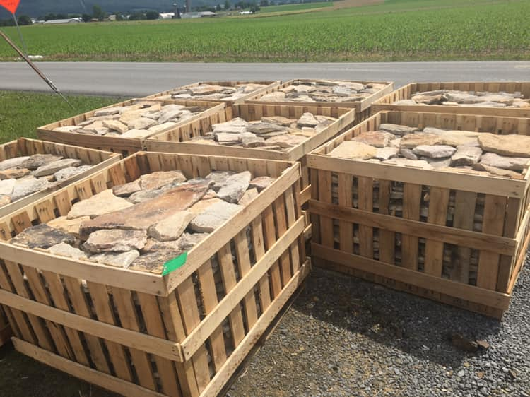 Pioneer Natural Stone Veneer Pallets Ready to Ship