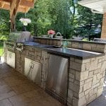 Stonegate Natural Thin Stone Veneer Outdoor Kitchen
