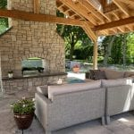 Stonegate Real Thin Stone Veneer Outdoor Fireplace