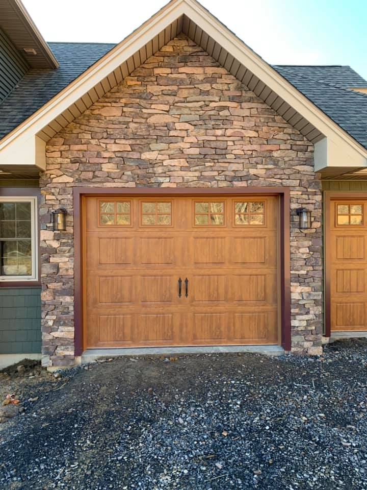Whitney Natural Stone Veneer Garage