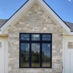 Custom Ashlar Light Natural Stone Veneer Accent Wall