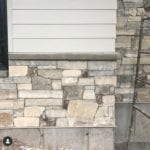 Custom Ashlar Light Real Stone Veneer Wainscoting