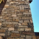 Custom Ashlar Real Stone Veneer Exterior Siding Close-Up
