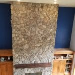 Moss Rock Mosaic Real Thin Stone Veneer Fireplace Remodel