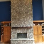 Moss Rock Natural Thin Stone Veneer Fireplace Siding