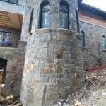 Custom Castle Rock McGregor Natural Stone Veneer Turret