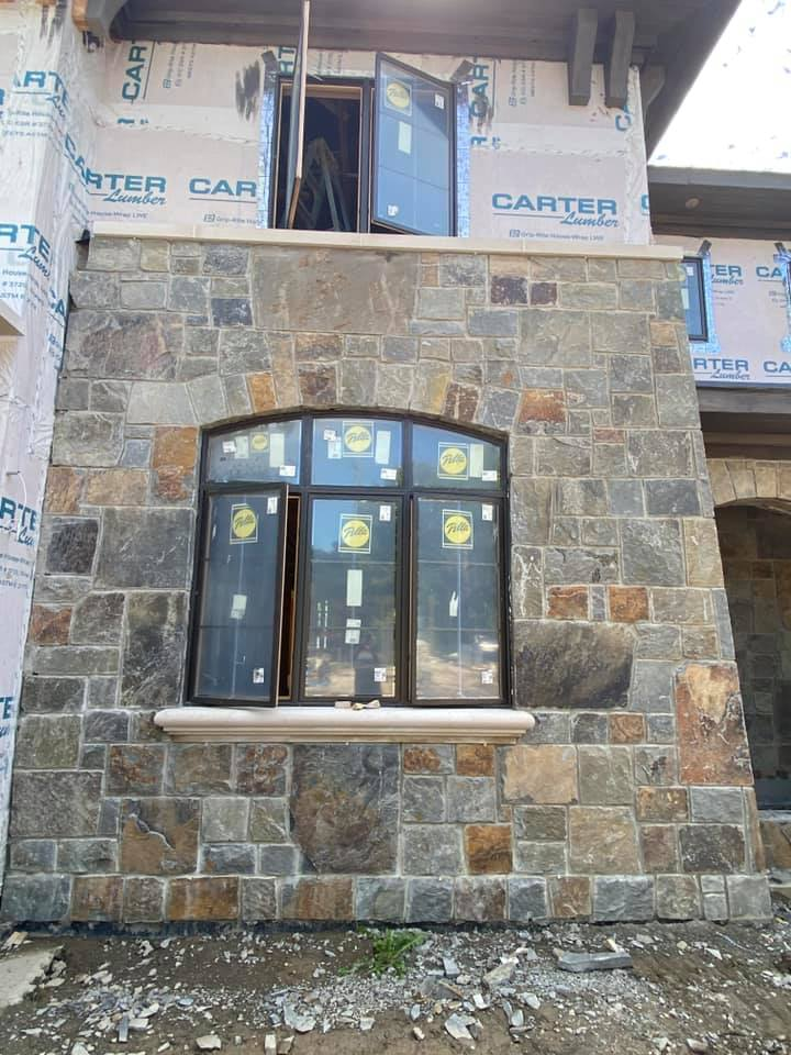 Custom Castle Rock McGregor Real Stone Veneer Exterior Siding