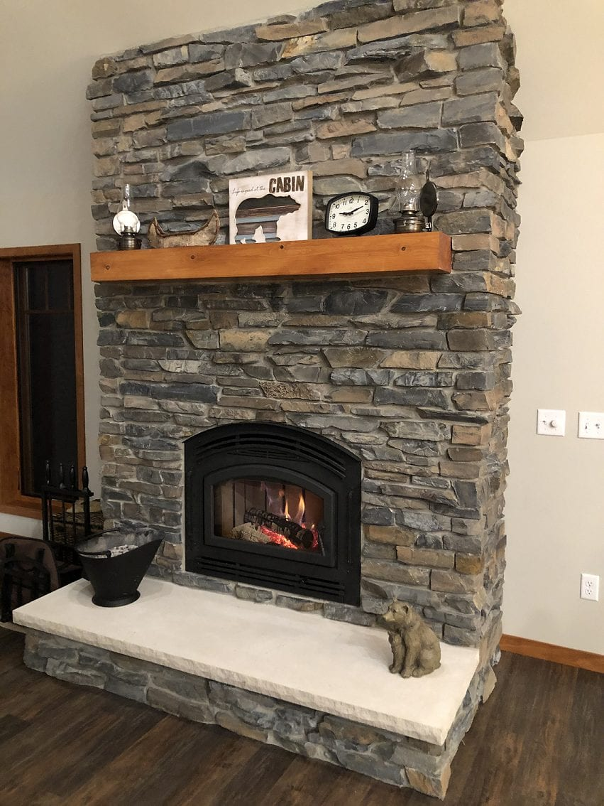 Torrington Real Thin Stone Veneer Interior Fireplace