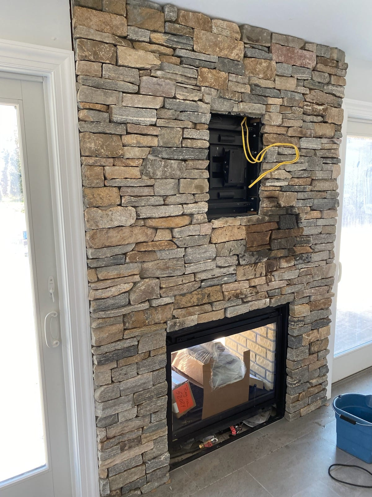Silverton Natural Stone Veneer Interior Fireplace