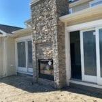 Silverton Real Thin Stone Veneer Exterior Fireplace