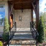 Tuscan Antique Tumbled Natural Stone Veneer Entrance
