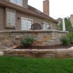 Avondale Ashlar Style Real Stone Veneer Landscape Wall