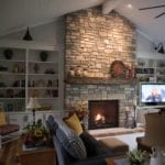 Bismarck Ashlar Style Real Stone Veneer Interior Fireplace