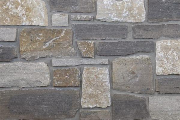 Bismarck Natural Stone Veneer Mock-Up