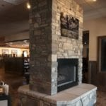 Brookhaven Natural Thin Stone Veneer Double-Sided Fireplace