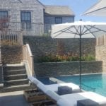 Cape Cod Natural Thin Stone Veneer Outdoor Living Pool