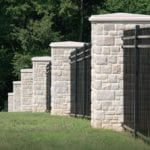 Edison Natural Thin Stone Veneer Fence