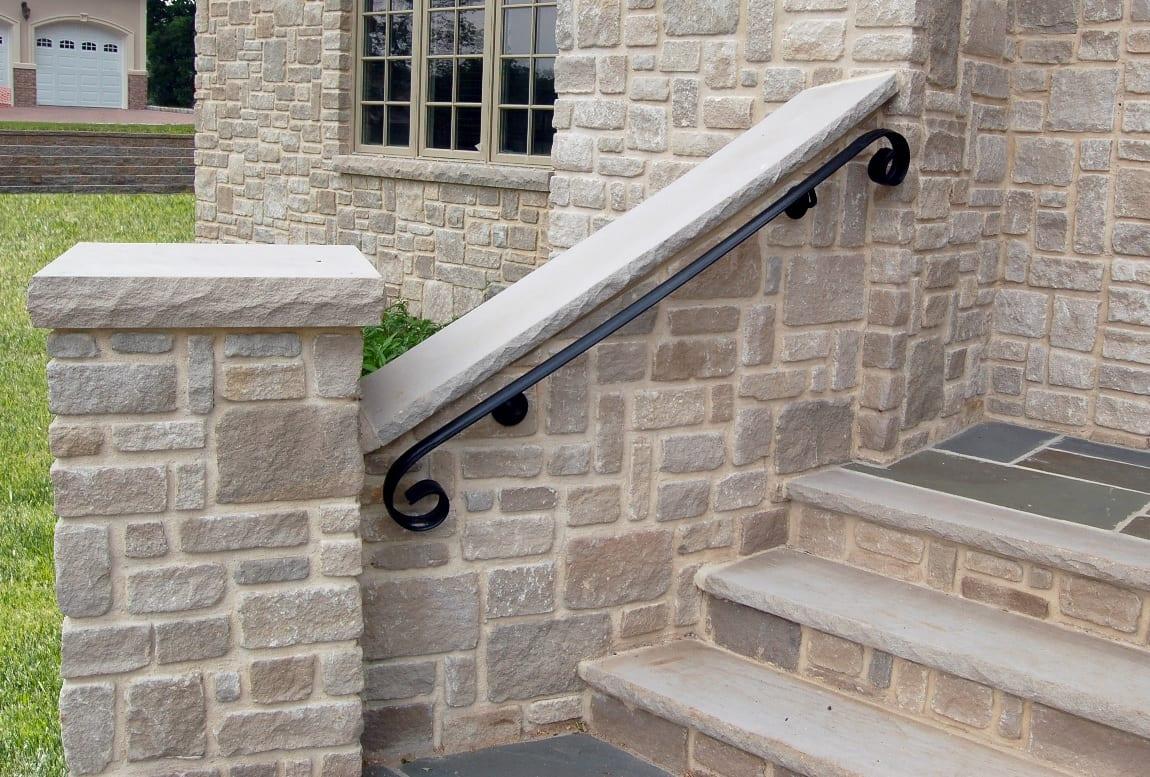 Edison Real Stone Veneer Stairwell