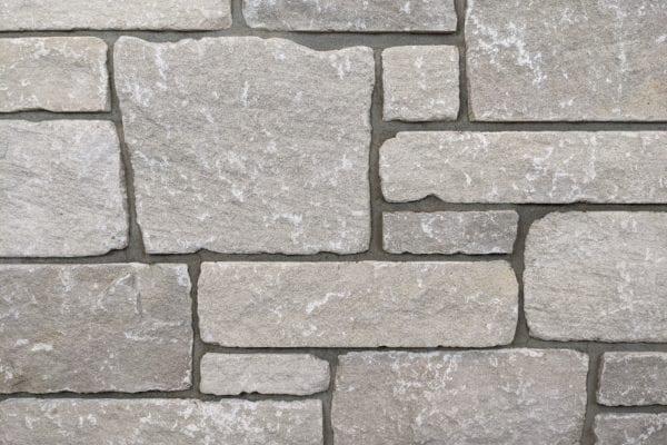 Edison Tumbled Thin Stone Veneer Mock-Up