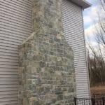 Emerald Bay Castle Rock Real Stone Veneer Chimney
