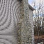 Emerald Bay Square Rec Real Stone Veneer Chimney