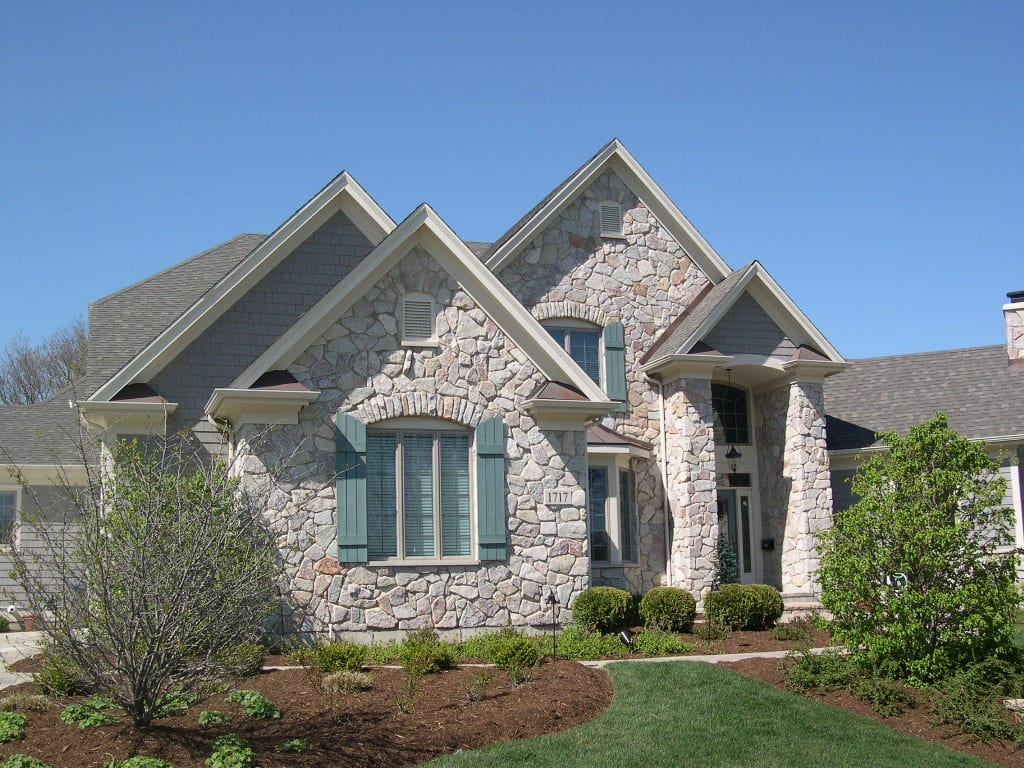 Geneva Tumbled Real Thin Stone Veneer Home Exterior