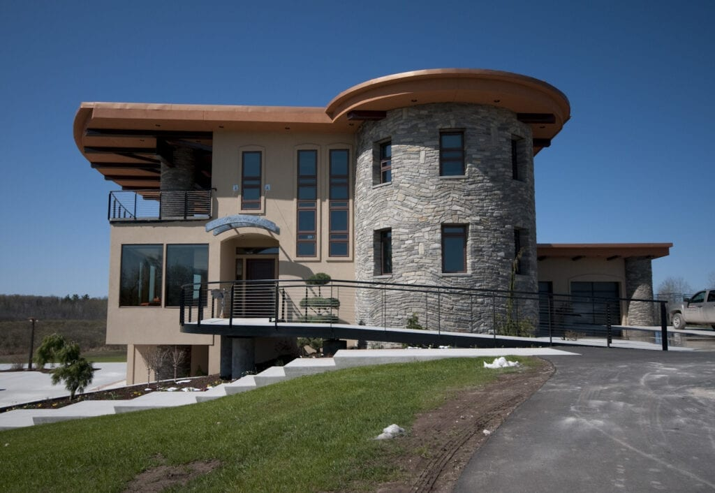 Glendale Ashlar Style Natural Stone Veneer Turret