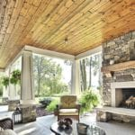 Glendale Natural Thin Stone Veneer Outdoor Fireplace