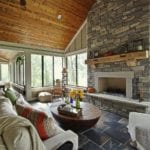 Glendale Real Thin Stone Veneer Interior Fireplace
