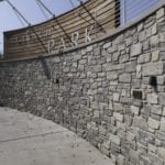 Glendale Real Thin Stone Veneer Privacy Wall