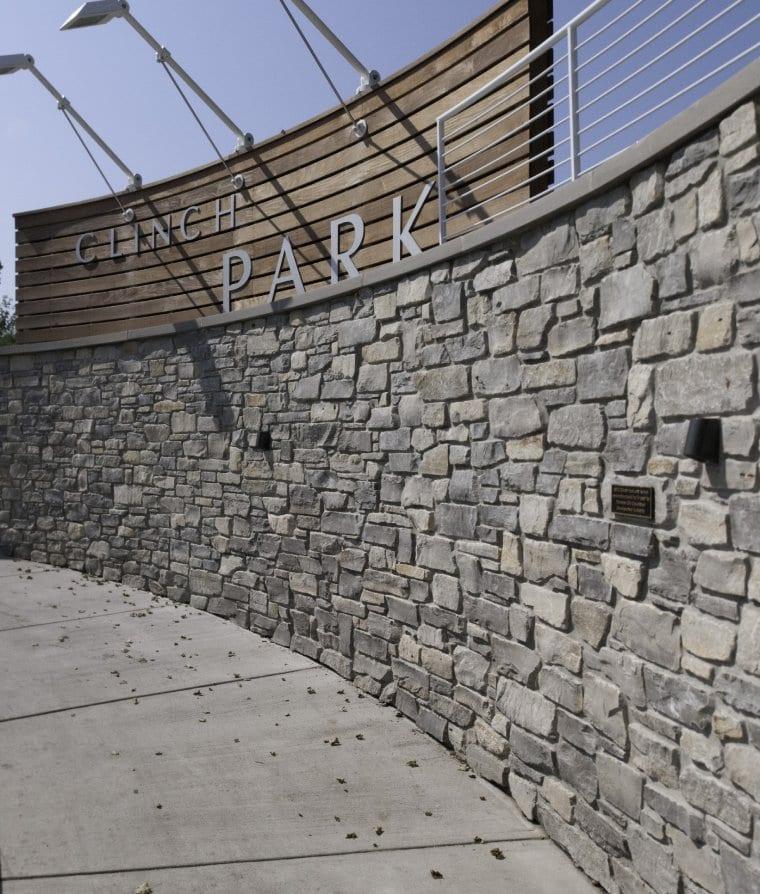Glendale Real Thin Stone Veneer Privacy Wall