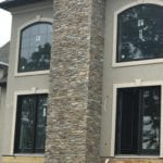 Helmsdale Natural Thin Stone Veneer Chimney