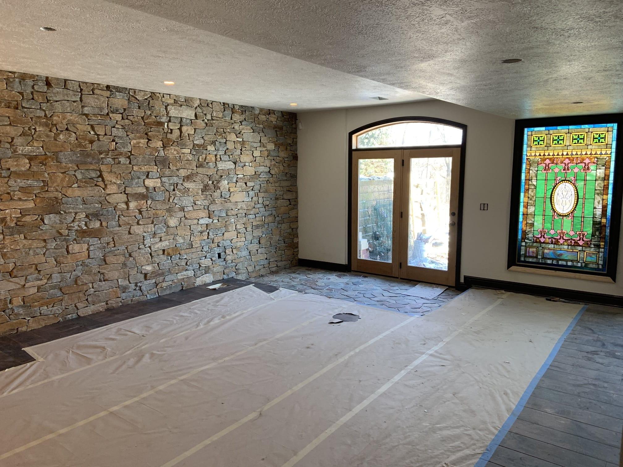 Helmsdale Thin Stone Veneer Interior Drystack Wall