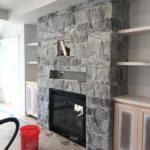 Lincoln Real Thin Veneer Interior Fireplace Install
