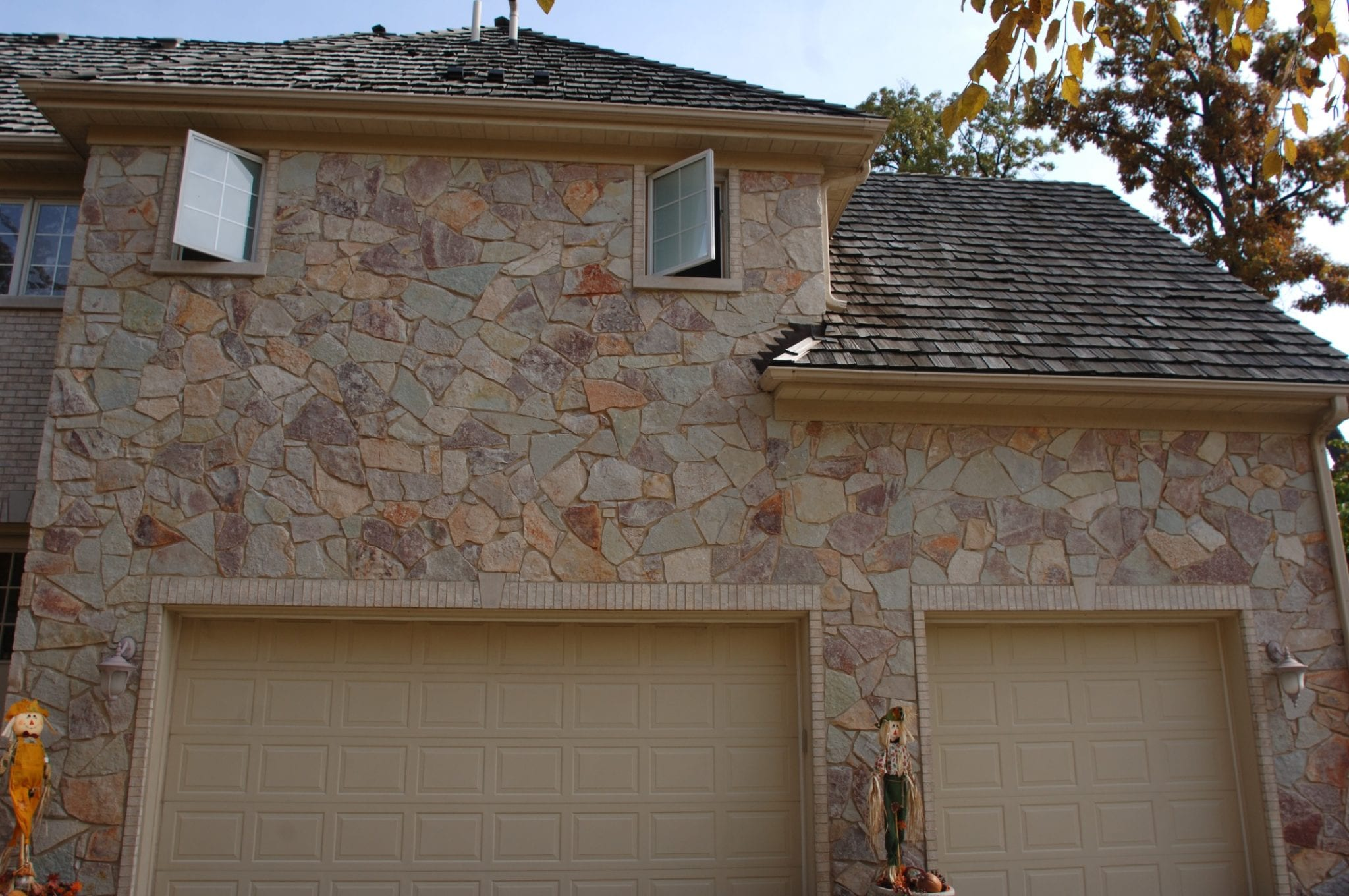 Maricopa Limestone Real Thin Veneer Garage