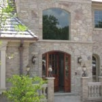 Maricopa Mosaic Natural Thin Stone Veneer Entrance