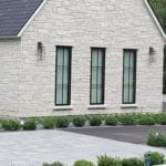 Montreux White Natural Thin Stone Veneer Exterior