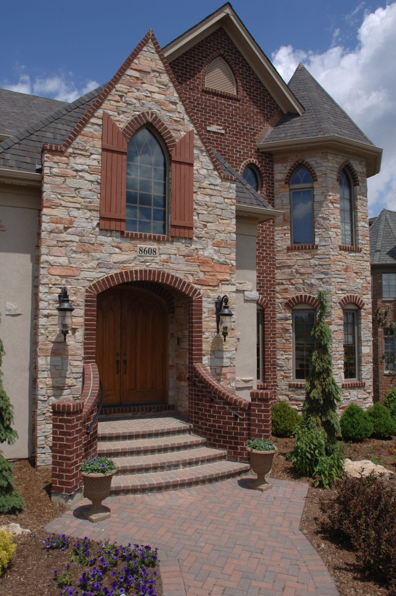 Pennington Weathered Edge Natural Thin Veneer Front Entrance