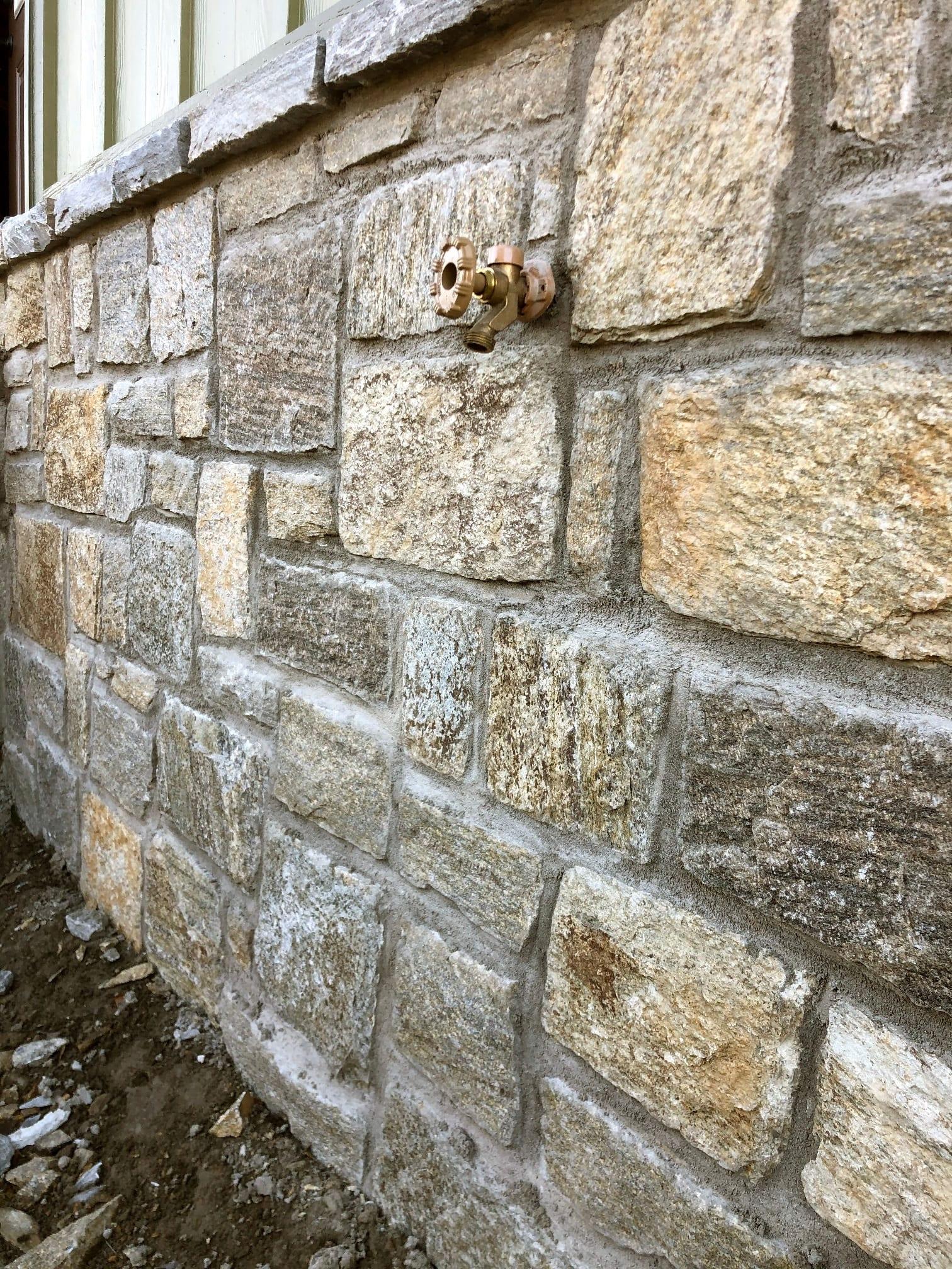 Reedley Natural Thin Stone Veneer Wainscoting