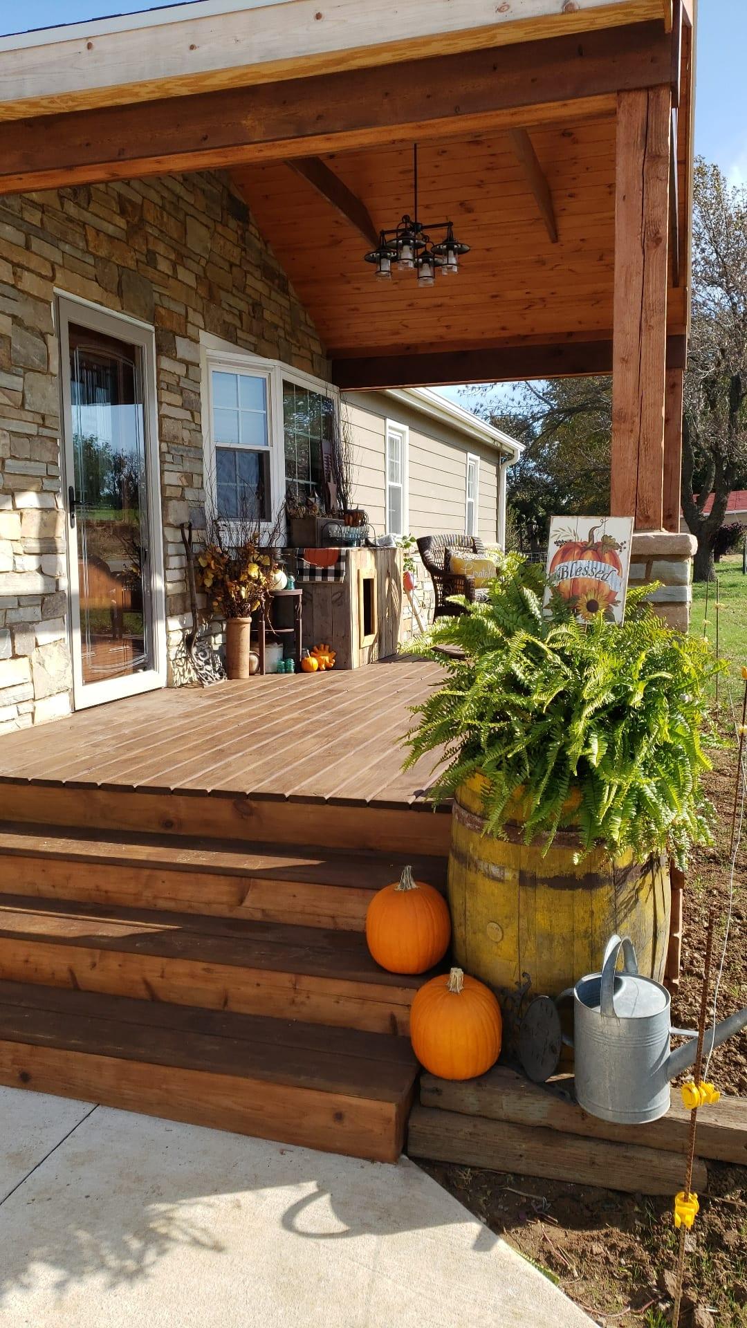 Savannah Real Thin Stone Veneer Front Porch