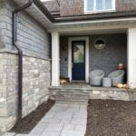 Big Horn Thin Stone Veneer Front Entrance