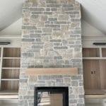 Catskill Natural Stone Veneer Fireplace