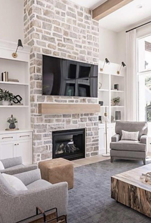 Catskill Real Stone Veneer Interior Fireplace