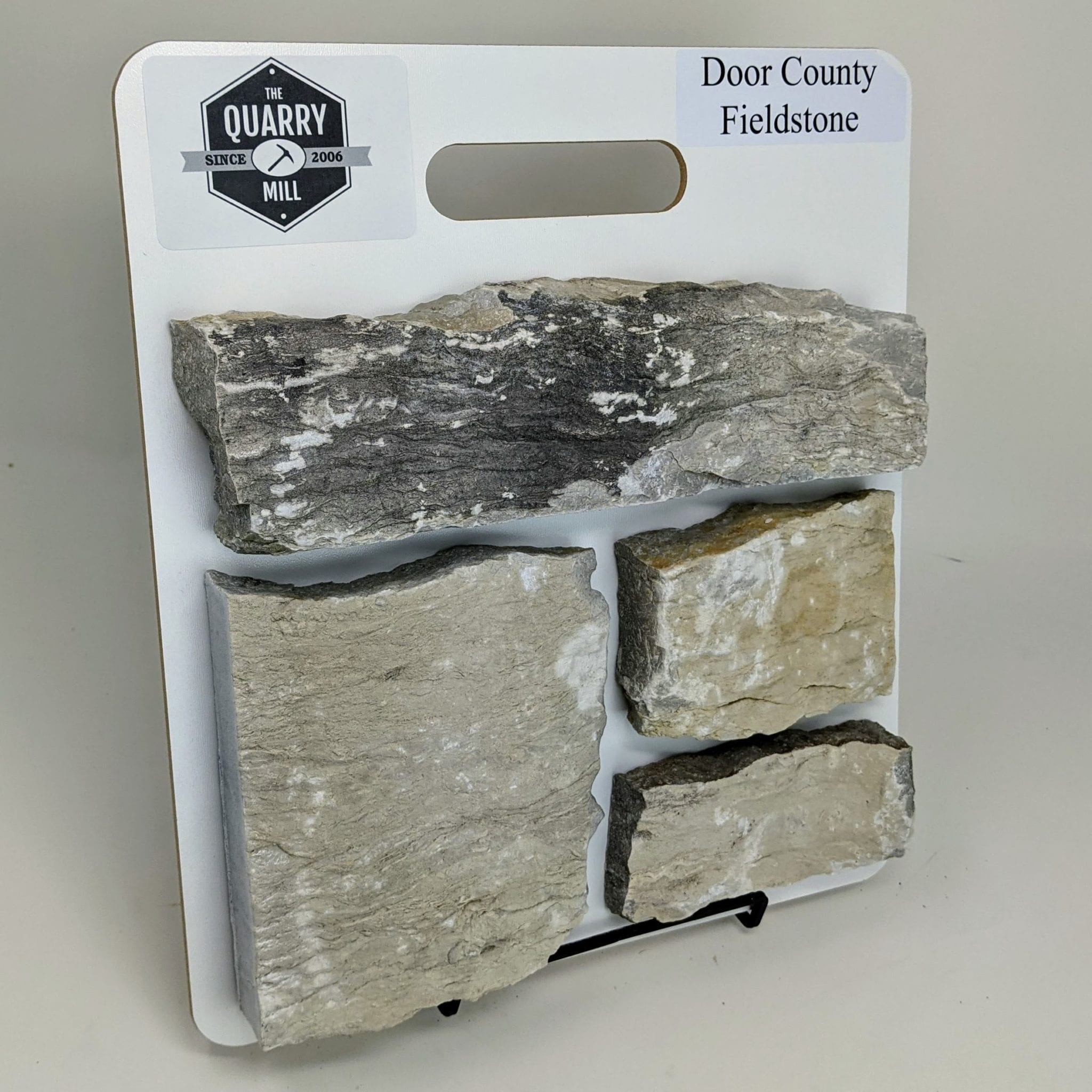 Door County Fieldstone Real Stone Veneer Sample Board