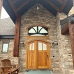 Fairfax Natural Thin Stone Veneer Front Entrance